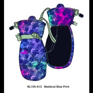JUPA JUPA KIDS GIRLS PEYTON INSULATED MITTS (19/20) MEDIEVAL BLUE PRINT-BL105-A13