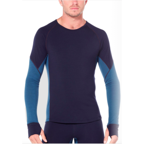 ICEBREAKER ICEBREAKER MENS 260 ZONE LS CREWE (19/20) MIDNIGHT NAVY/SURF-B04
