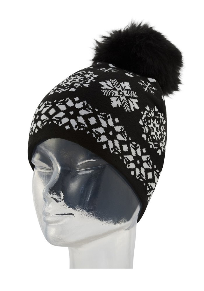 NEWLAND DENISE LADY BEANIE (19/20) BLACK/WHITE-0108