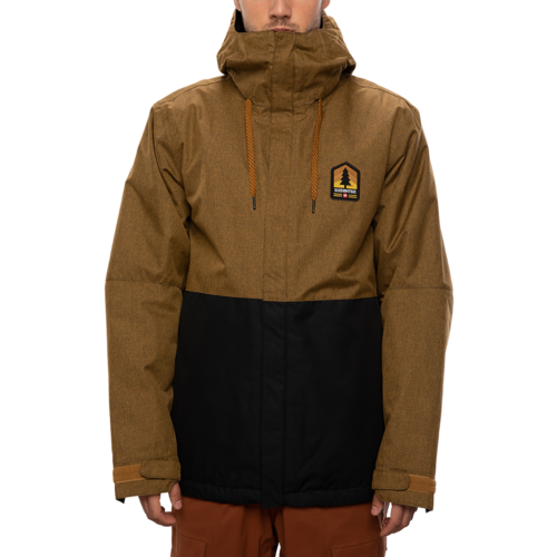 686 686 Men's Foundation Insulated Jacket (20/21) GOLDN BROWN MLNG CLRBLK-GLDB