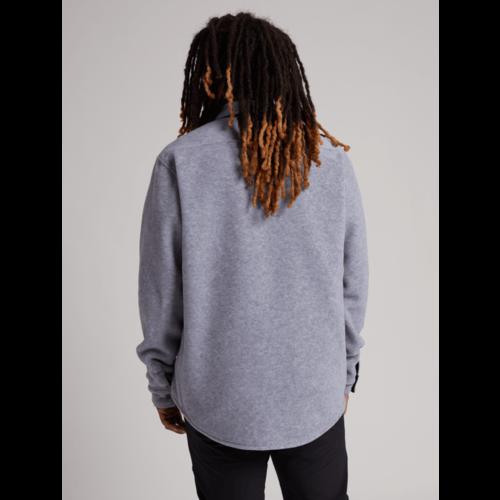 BURTON Burton Mens Hearth Fleece Shirt (20/21) Gray Heather-021