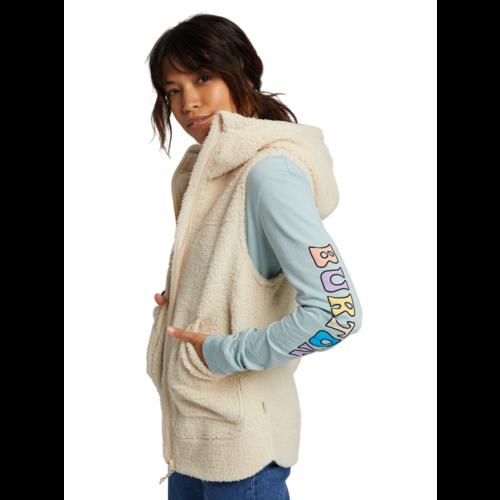 Burton Burton Womens Minxy Vest (20/21) Crème Brûlée Sherpa-251 *Final Sale*