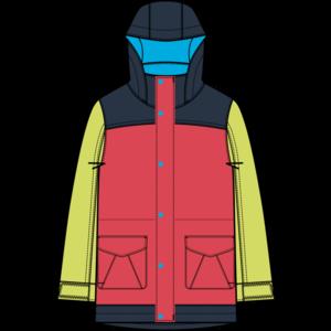 Burton Burton Girls Elstar Parka Jacket (20/21) Hibiscus/Limade-650 *Final Sale*