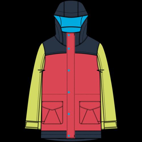 BURTON Burton Girls Elstar Parka Jacket (20/21) Hibiscus/Limade-650