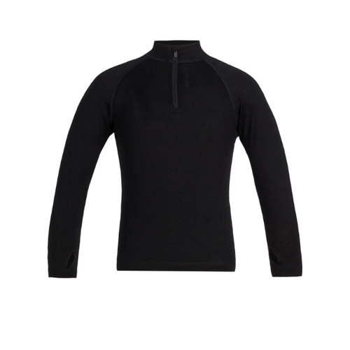 Icebreaker Icebreaker Kids 260 Tech Ls Half Zip (20/21) Black-1 *Final Sale*