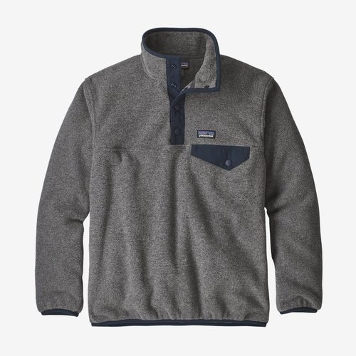 Patagonia Patagonia Boys' Lw Synch Snap-T P/O (20/21) Nickel W/Navy Blue-Nknv *Final Sale*