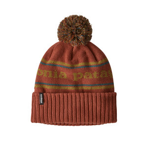 PATAGONIA Patagonia Powder Town Beanie (20/21) Park Stripe Knit: Spanish Red-Pssr