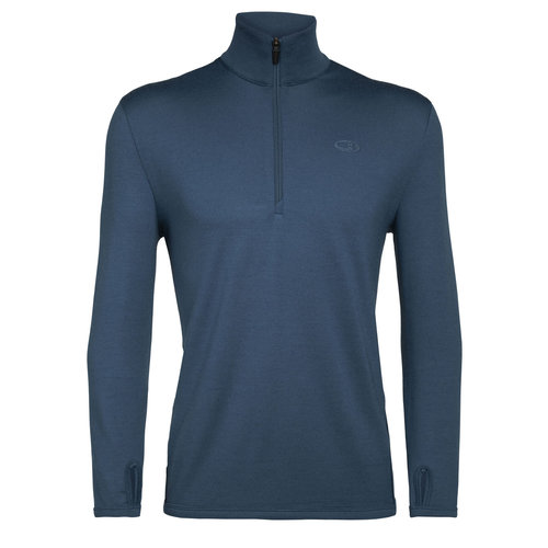 Icebreaker Icebreaker Mens Original Ls Half Zip (20/21) Prussian Blue-453 *Final Sale*