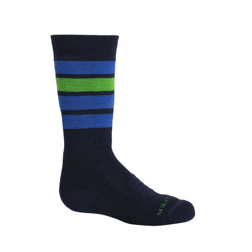 ICEBREAKER Icebreaker Kids Ski Medium Otc Stripe (20/21) Midnight Navy-423 *Final Sale*
