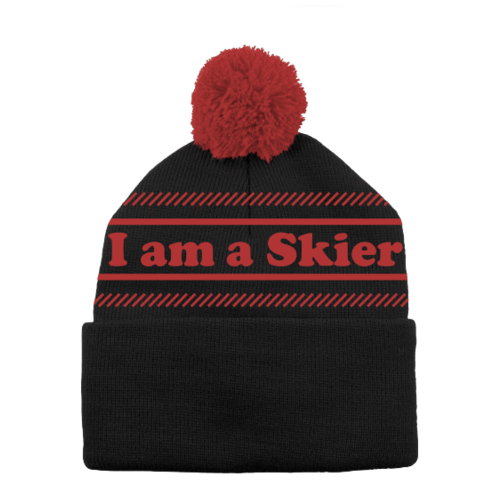 Line Line I Am A Skier Beanie (20/21) Black 1SZ *Final Sale*