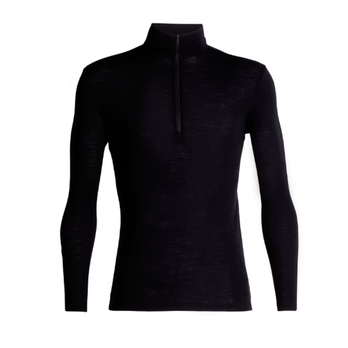 ICEBREAKER ICEBREAKER MENS 175 EVERYDAY LS HALF ZIP BLACK-1