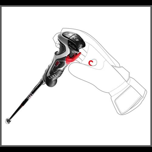 Leki Leki Carbon 14 3D (20/21) Black/Red *Final Sale*