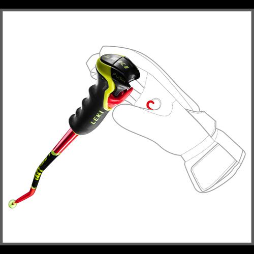 Leki Leki Wcr Lite Gs 3D (20/21) Neonred *Final Sale*