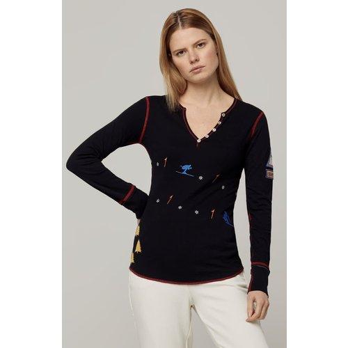 ALP-N-ROCK Alp-N-Rock Reni Henley Shirt (20/21) Black-Blk *Final Sale*