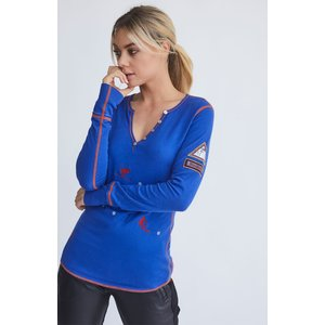 Alp-N-Rock Alp-N-Rock Reni Henley Shirt (20/21) Ultramarine-Ulm *Final Sale*
