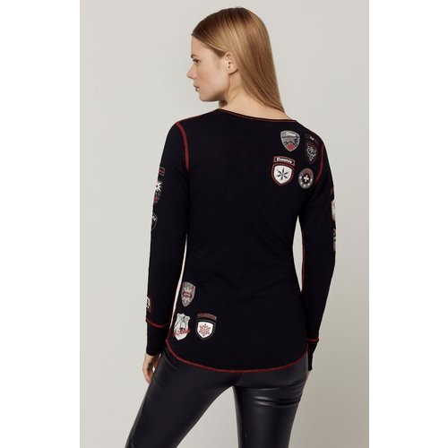 ALP-N-ROCK Alp-N-Rock Ski The World Henley Shirt (20/21) Black-Blk *Final Sale*