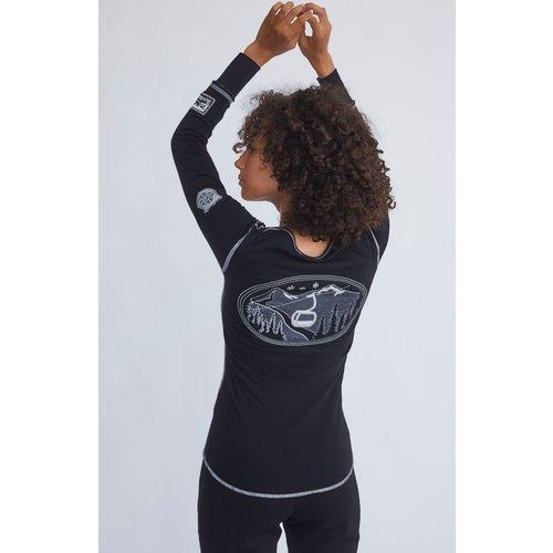 ALP-N-ROCK Alp-N-Rock Madeline Henley Shirt (20/21) Black-Blk