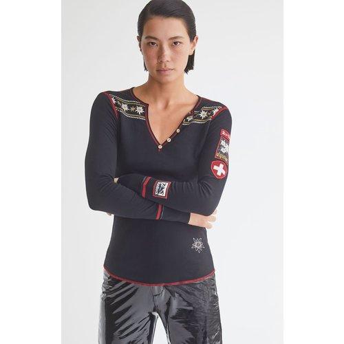 ALP-N-ROCK Alp-N-Rock Edelweiss Henley Shirt (20/21) Black-Blk