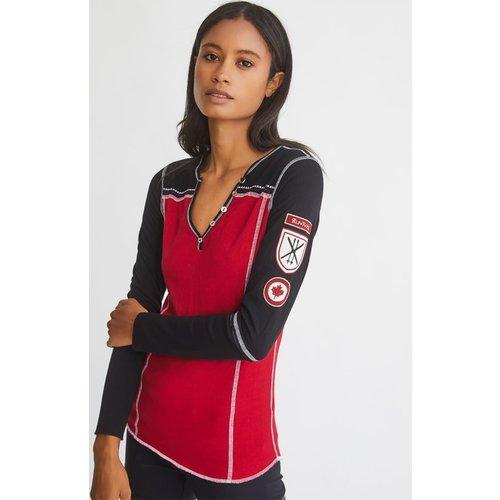 Alp-N-Rock Alp-N-Rock Valerie Canada Henley Shirt (20/21) Red-Red *Final Sale*