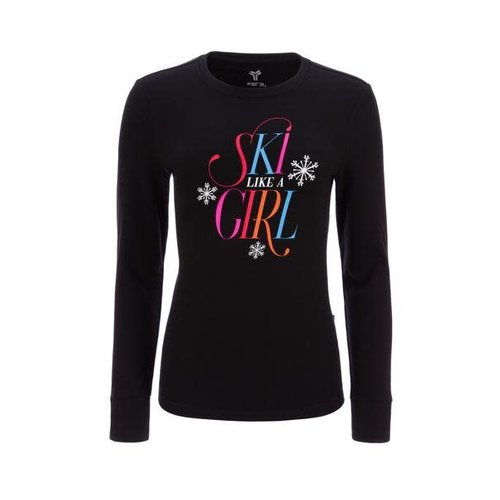 FERA Fera Ski Like A Girl Tee (20/21) Black-001