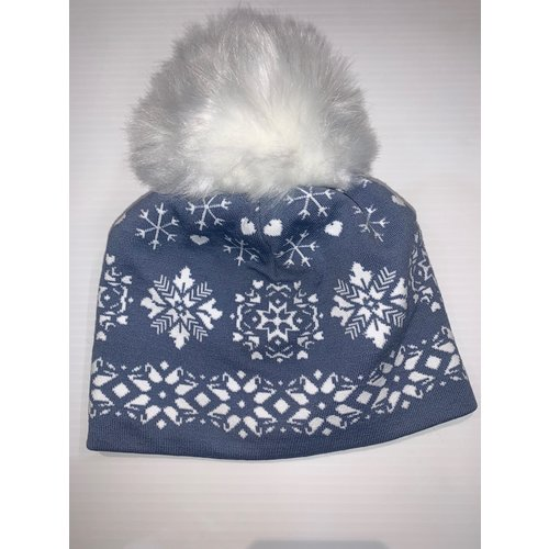 Newland NEWLAND DENISE LADY BEANIE (19/20) PEARL GREY-0260 *Final Sale*