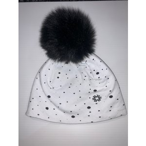 Newland NEWLAND ELSA LADY BEANIE (19/20) BLACK/WHITE-0108 *Final Sale*