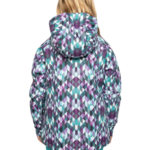686 686 Youth Girls Dream Insulated Jacket (20/21) TEAL KALEIDOSCOPE-TEAL *Final Sale*