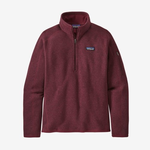 PATAGONIA Patagonia W'S Better Sweater 1/4 Zip (20/21) Chicory Red-Chir *Final Sale*