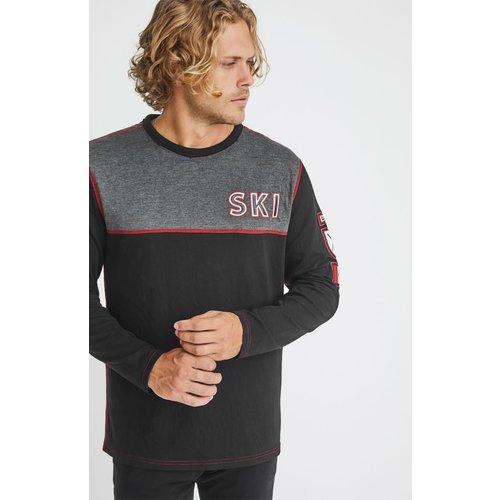Alp-N-Rock Alp-N-Rock Ski Canada Crew Shirt (20/21) Heather Black-Hbk *Final Sale*