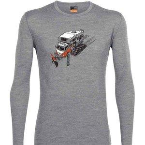 Icebreaker Icebreaker Mens Oasis Ls Crewe Snow Bug Metro Hthr -1 (17/18) *Final Sale*