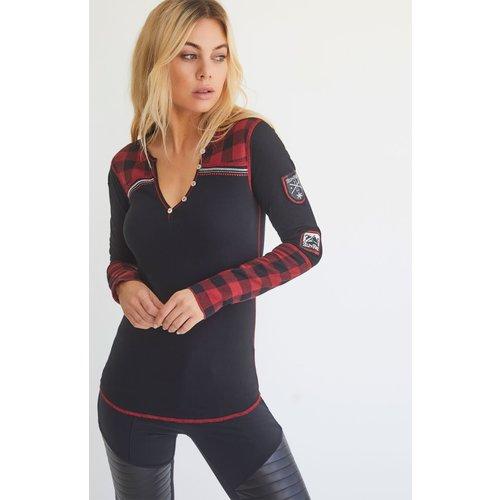 Alp-N-Rock Alp-N-Rock Charlotte Henley Shirt (21/22) Black-Blk