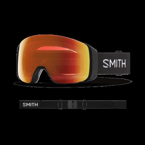 Smith Smith 4D Mag (21/22) Black || Chromapop Everyday Red Mirror