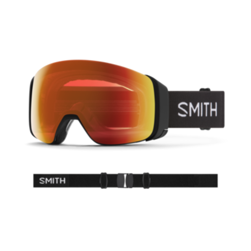 Smith Smith 4D Mag (21/22) Black    Chromapop Everyday Red Mirror