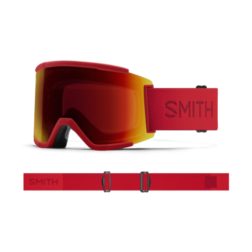 Smith Smith Squad Xl (21/22) Clay Red || Chromapop Sun Red Mirror