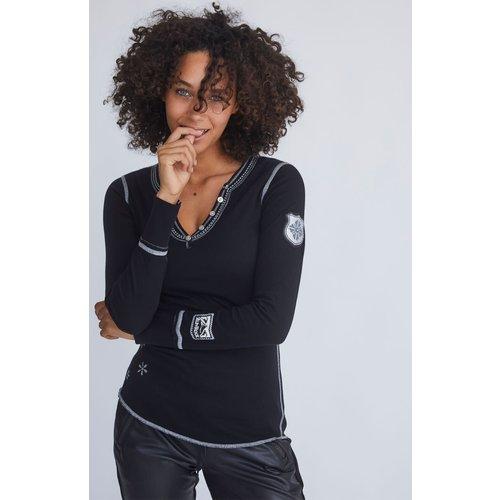 Alp-N-Rock Alp-N-Rock Madeline Henley Shirt (21/22) Black-Blk
