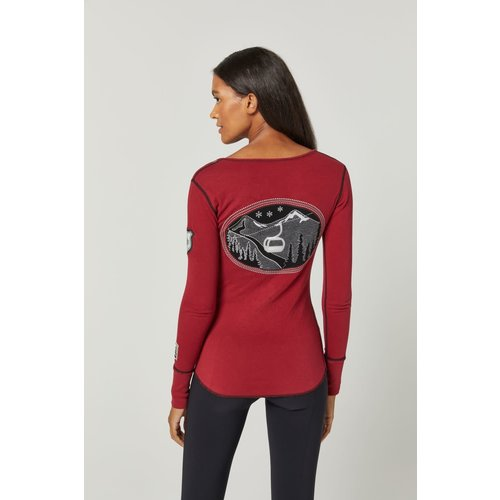 Alp-N-Rock Alp-N-Rock Madeline Henley Shirt (21/22) Deep Red-Dre