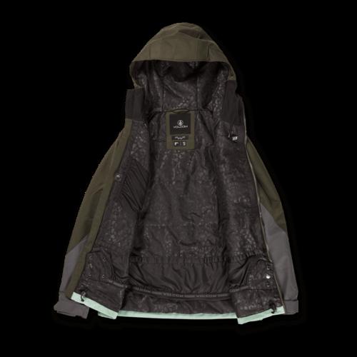 Volcom Volcom Strayer Ins Jacket (21/22) Black Green-Bgr