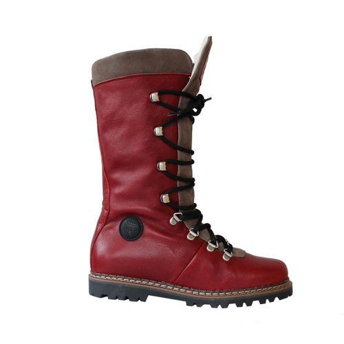Ammann Ammann Malix (21/22) Red Leather & Taupe Suede Tongue