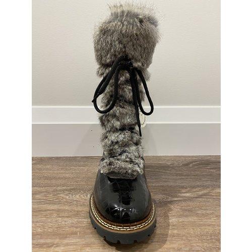 Ammann Ammann Malix (21/22) Black Croc & Grey Rabbitfur Tongue