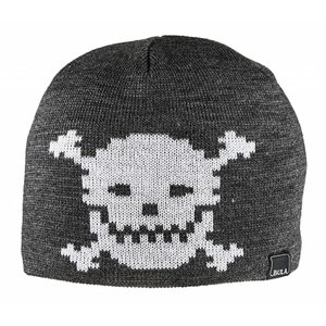 BULA Bula Kids Unisex Kids Skull Beanie Heather Grey -Hegrey (16/17) O/S *Final Sale*