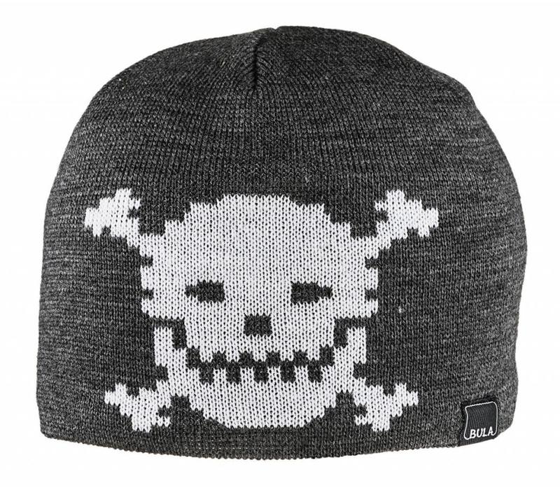 Bula Kids Unisex Kids Skull Beanie Heather Grey -Hegrey (16/17) O/S