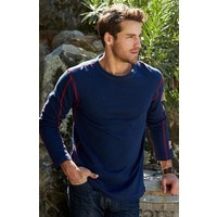 Alp-N-Rock Lodge Mens L/S Crew Shirt Navy -Nvy