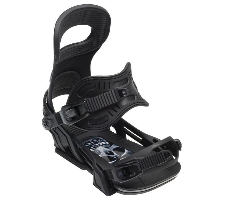 Bent Metal Mens Transfer Snowboard Binding Black - (17/18)