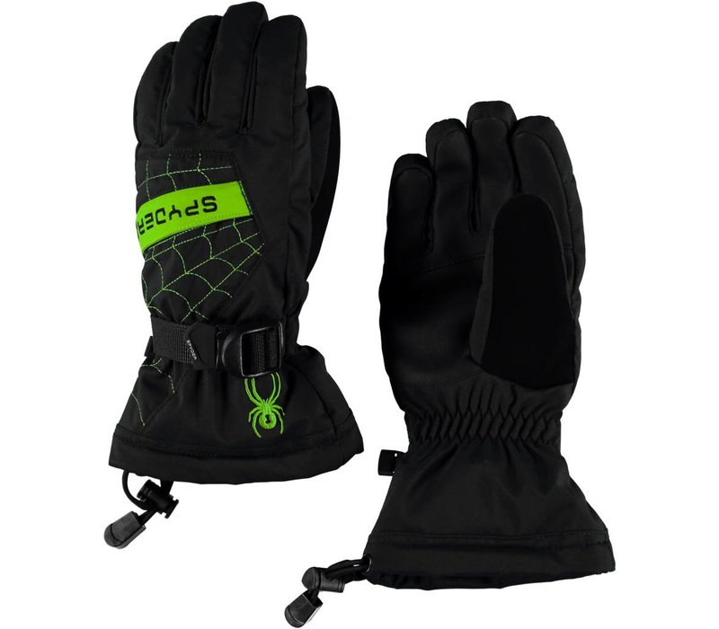 Spyder Boys Overweb Ski Glove 018 Black/Fresh - (17/18)