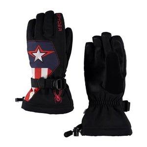 SPYDER Spyder Boys Marvel Overweb Ski Glove 001 Black/Captain - (17/18)