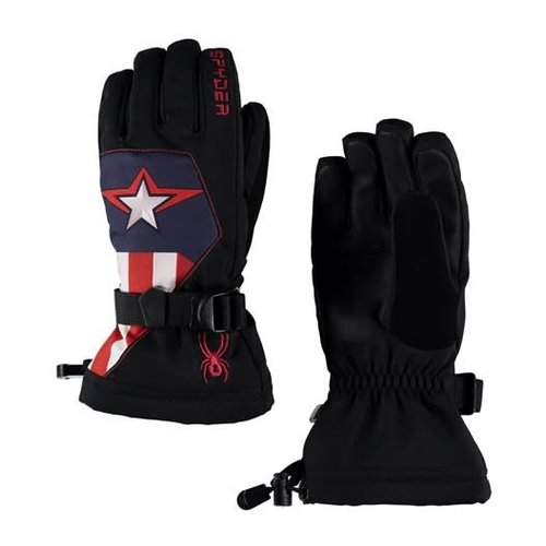 SPYDER Spyder Boys Marvel Overweb Ski Glove 001 Black/Captain - (17/18)