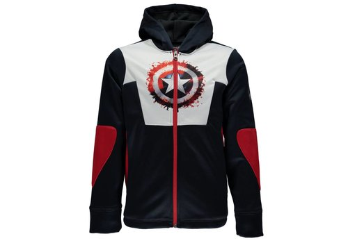 SPYDER Spyder Boys Marvel Riot Full Zip Hoody 402 Frontier/Captain - (17/18)