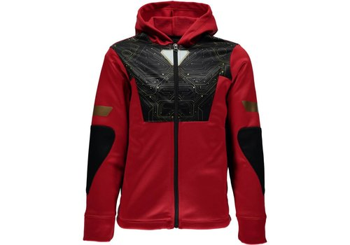 SPYDER Spyder Boys Marvel Riot Full Zip Hoody 600 Red/Ironman - (17/18)