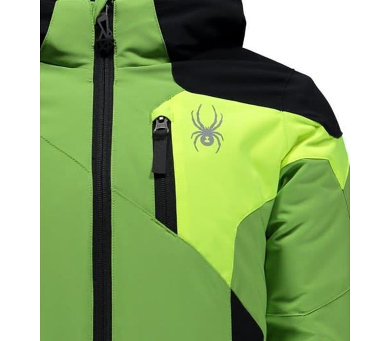 Spyder Mini Chambers Jacket 321 Fresh/Black/Bryte Yellow with Spyder Mini Expedition Pant 001 Black/Black - (17/18)