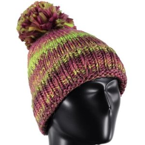SPYDER Spyder Girls Twisty Hat 678 Raspberry/Amaranth/Bryte Yellow - (17/18) ONE SIZE *Final Sale*